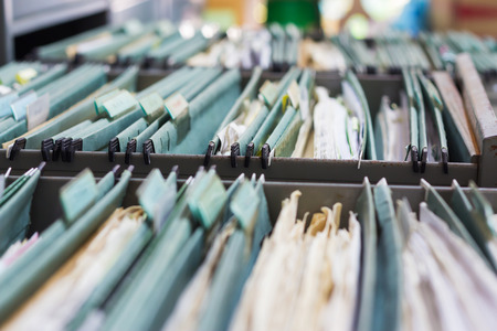 Photo pour File folders in a filing cabinet - image libre de droit