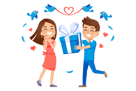 Impressions at a young age. Give gifts to your loved ones at special moments. Make relationships love with Internet technology. (Blue bird is mean email).