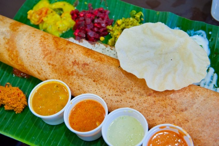 Dosa, crispy savory pancake from South India