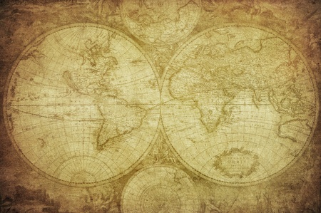 Foto de vintage map of the world   - Imagen libre de derechos