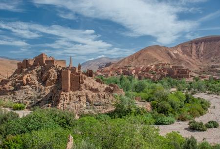 Berber kasbah in Dades gorge, Morocco