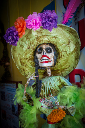 La Calavera Catrina, traditional personage of Mexican Day of the Dead