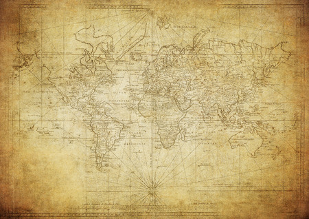 vintage map of the world 1778