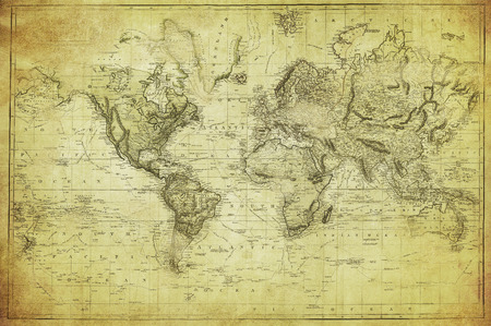 Photo pour vintage map of the world 1831 - image libre de droit