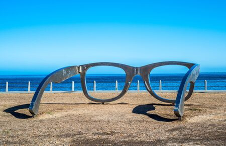 Photo for Sculpture of glasses at Cape Town waterfront, South Africa - Royalty Free Image
