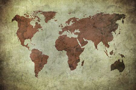 Photo pour grunge map of the world - image libre de droit