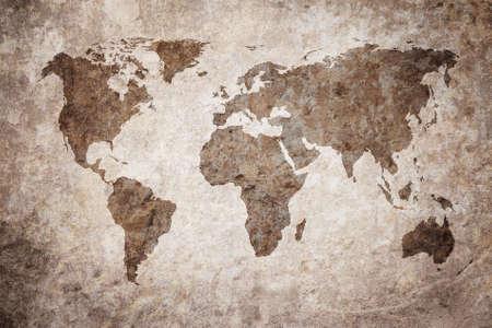 Foto de grunge map of the world - Imagen libre de derechos