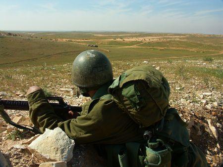 Israeli soldier exercise