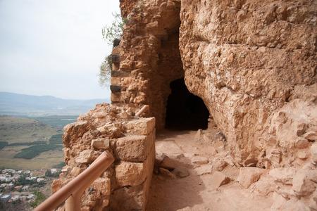 Ruins in Arbel mountain, galilee, Israel  tourism