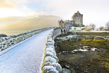 Eilean Donan Castle in winter.