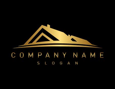 Illustration for Gold real estate logo - Royalty Free Image