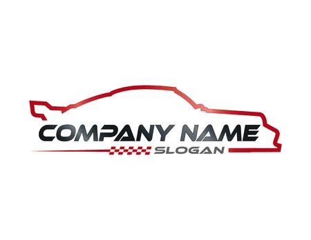 Ilustración de Racing car symbol - Imagen libre de derechos