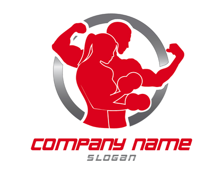 Foto per Logo gym - Immagine Royalty Free