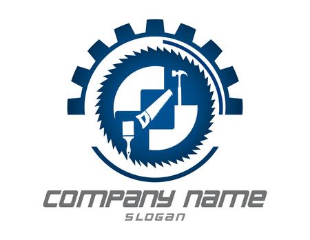 Illustration pour Tools logotype - image libre de droit