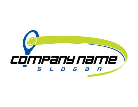 Illustration pour Tennis club logo - image libre de droit