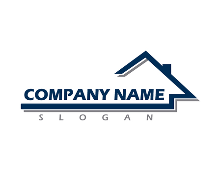 Ilustración de Real estate company logo - Imagen libre de derechos