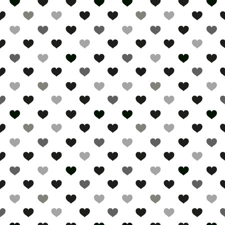 Illustration pour Modern kids seamless pattern with heart. black and white cute minimalistic scandinavian cartoon elements on white background. eps10 - image libre de droit