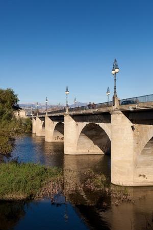 Bridge of stone, Logroño, La Rioja, Spain