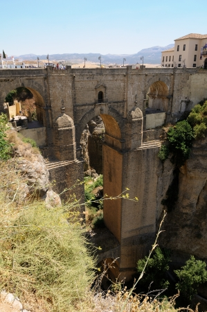 New bridge in Ronda, one of the famous white villages in Málaga, Andalusia, Spain