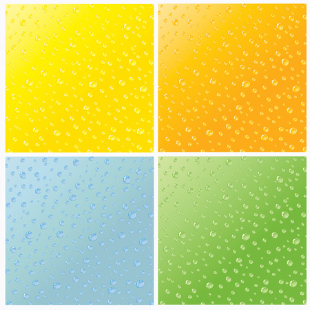 Set of four seamless water dew drops texture