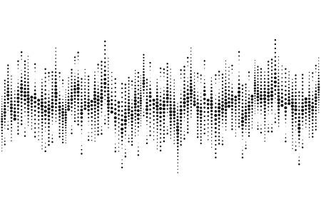 Illustration for Halftone sound wave pattern modern music design element isolated on white   background - Royalty Free Image