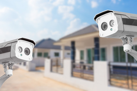 Foto für CCTV Home camera security operating at house. - Lizenzfreies Bild
