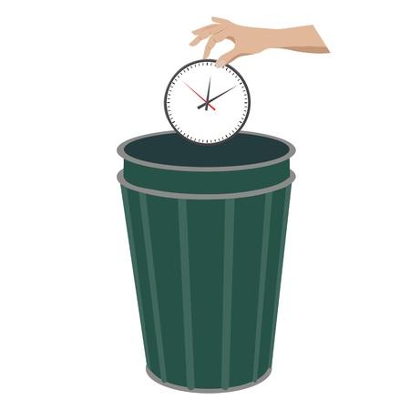 Illustration pour Waste of time concept - image libre de droit