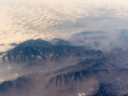Aerial photography of Taishan