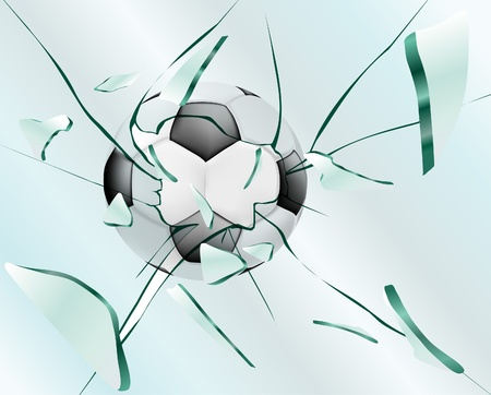 Football smashes glass