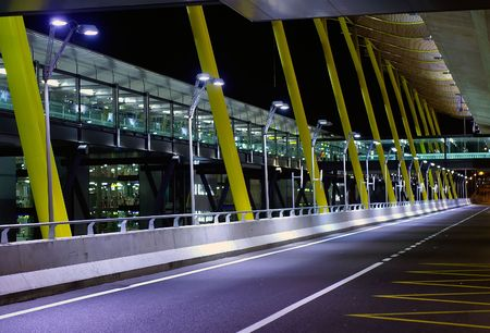 A view outside the new terminal of Madrid Barajas