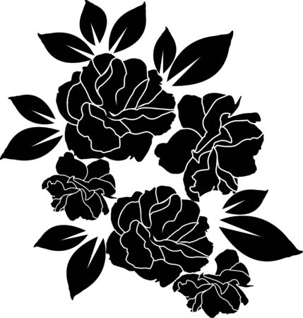 Foto per rose black and white wallpaper or textile clean design - Immagine Royalty Free