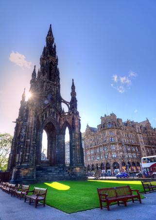 Scott Monument in Edinburgh, Scotland.