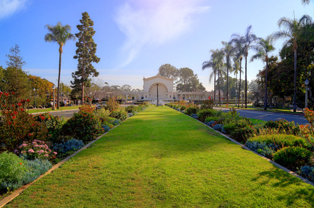 A view of in Balboa Park in San Diego. California, USA