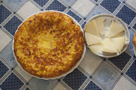 omelette and cheese  Tradition on the table