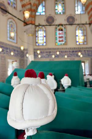 Istanbul, Turkey - September 24, 2014: Interior of the Tomb of Sultan Murad III near the museum Hagia Sophia.