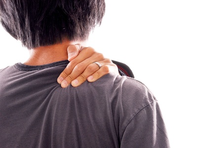 Man Suffering From Shoulder and Neck Pains
