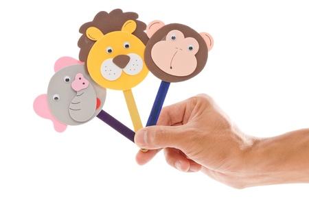 Fun Popsicle Stick Animal Puppets