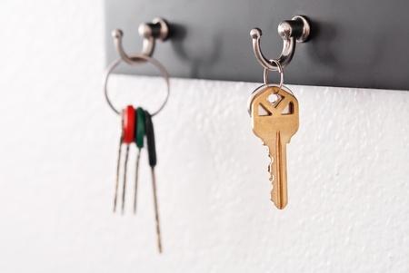 Keys Hanging From Hooks