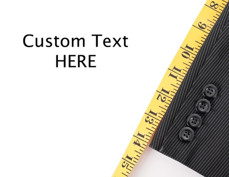 Business Suit Tailoring with Custom Space for Text