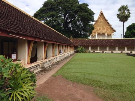 Wat Pr That Luang, Vientien Lao.