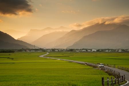 Beautiful pastoral scene in Taitung, Taiwan