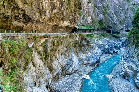 Photo pour Scenery of Taroko gorge.Taroko national park, Hualien. This is a famous attraction in Taiwan - image libre de droit