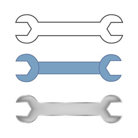 Wrench set . Minimalistic design selections keys for repair .