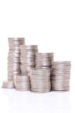 Photo pour stacked of coins - image libre de droit