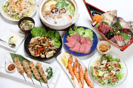 Photo pour Asian food dishes - image libre de droit