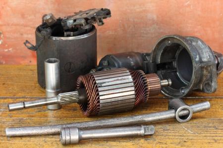 Opened starter motor
