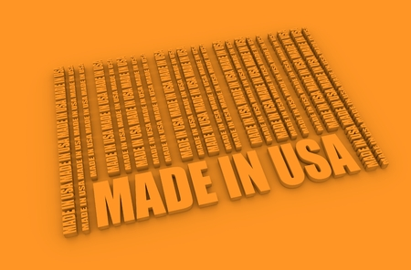Made in USA  in bar code. Lines consist of same words. Image relative to United State of America retail