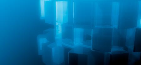 Photo pour Reflected gear models background. Precision machinery relative backdrop. 3D rendering - image libre de droit