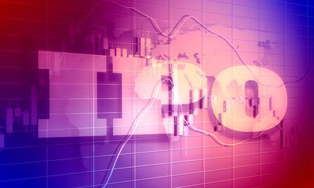 Photo pour Acronym IPO - Initial Public Offering. Business conceptual image. - image libre de droit