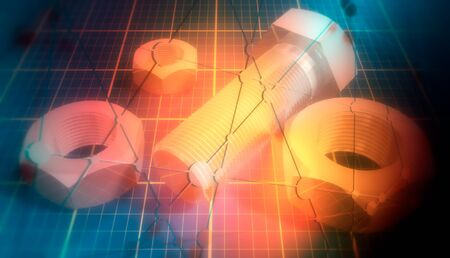 Photo pour Industrial concept illustration - image libre de droit